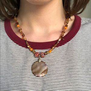 BRAND NEW artist-made shell pendant necklace